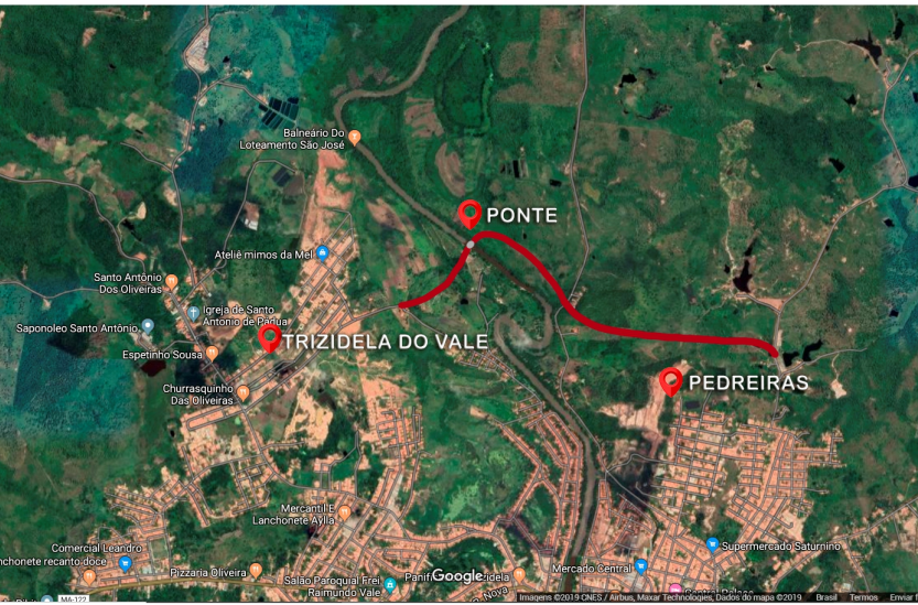Em Trizidela do Vale, senador Roberto Rocha anuncia segunda ponte sobre o Rio Mearim