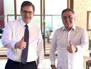 Todd Champman e senador Roberto Rocha