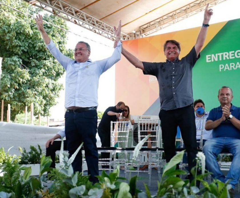 Roberto Rocha e Bolsonaro inauguram ponte sobre o Rio Parnaíba